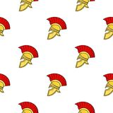Roman soldier`s helmet icon in cartoon style isolated on white background. Italy country pattern stock vector Stock Images