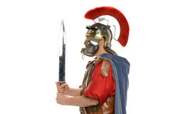 Roman soldier's profile Stock Photos