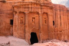 Roman soldier's tomb in Petra, Jordan Royalty Free Stock Photo