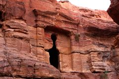 Roman soldier's tomb in Petra, Jordan Stock Photography