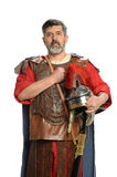 Roman Soldier Saluting Royaltyfria Foton