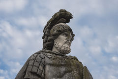 Roman soldier statue. A statue of a roman soldier royalty free stock photography