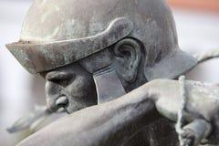 Roman Soldier Statue em uma missão em San Diego Fotos de Stock