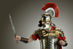 Roman Soldier with sword Stock Photos