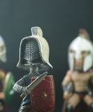 Roman soldiers. Isolate on black background Royalty Free Stock Photography