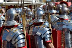 Roman Soldiers Fotos de Stock Royalty Free