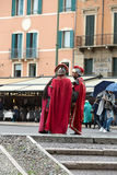 Roman soldiers at the amphitheater at the Piazza Bra in Verona, Stock Photography