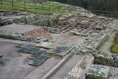 Roman soldiers bath house Stock Photos