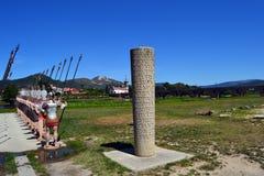 Roman soldiers of Ponte De Lima Stock Photo