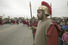 Roman Solider reenactors Stock Images