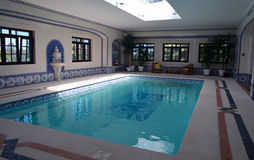 roman spa bath. Indoor swimming pool in roman spa style situated in the algarve Royalty Free Stock Photos