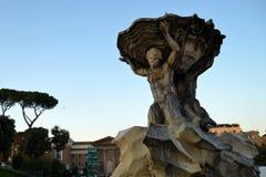 roman springbrunn royaltyfria foton