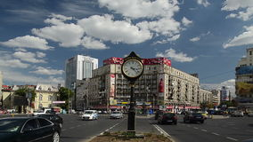 The Roman Square In Bucharest stock video footage