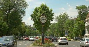 Roman Square (Piata Romana) en Bucarest almacen de video