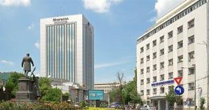 Roman Square (Piata Romana) i Bucharest arkivfilmer