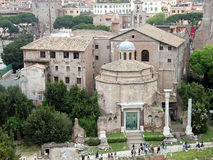 roman st för basilicacosmadamiano e fora Royaltyfri Foto