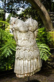 Roman Statue in a Beautiful Garden at Monte above Funchal Madeira. This wonderful garden is at the top of the cablecar from the seafront in Funchal. It is filled Royalty Free Stock Photo