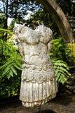 Roman Statue dans un beau jardin chez Monte au-dessus de Funchal Madère Photo libre de droits
