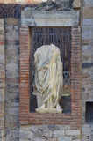 Roman Statue Forum Stock Photo