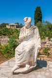 The Roman statue of Gortys, archaeological site on Crete royalty free stock image