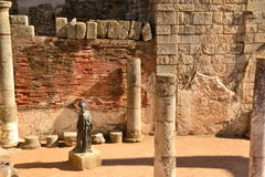Roman Statue an MeridaÂs Theater, Spanien Lizenzfreies Stockfoto