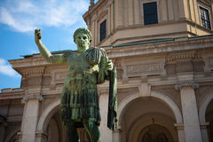 Roman Statue in Milan Stock Photo