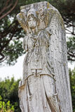 Roman statue Minerva - Vittoria Alata - Winged Victory -  locate Royalty Free Stock Image