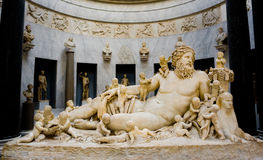 Roman statue of River Nile. Roman statue of the river-god Nile Stock Images