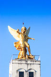 Roman statue on the top of  church. With blue sky at Nakorn-panom, Thailand Stock Image