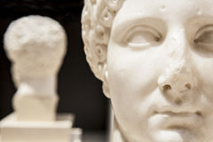 Roman statue of a woman Stock Images