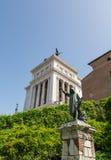 Roman Statues und Tempel Stockfoto