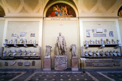 Roman statues in the Vatican Museum Royalty Free Stock Photography