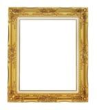 Roman stijl antiek gouden frame op witte achtergrond Royalty-vrije Stock Foto