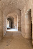 Roman Stone Arches (1). Archways inside Roman Amphitheater in Tunisia Royalty Free Stock Photography