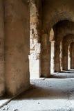 Roman Stone Arches (4). Archways inside Roman Amphitheater in Tunisia Royalty Free Stock Image