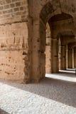 Roman Stone Arches (5). Archways inside Roman Amphitheater in Tunisia Stock Photography