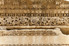 Roman stone carving. In ancient city of jerash, jordan Stock Image