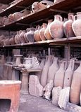Roman storage jars, Pompeii. Stock Images