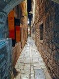 Roman straat stock fotografie