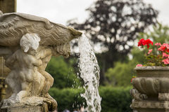 Roman-style fountain Stock Photos