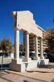Roman style pillars, Fuengirola. Stock Images