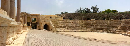 The Roman style theater at Beit She'an also known as Scythopolis Stock Photos