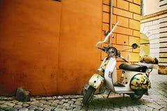 Roman style - Vespa Royalty Free Stock Photography