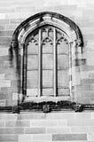 Roman style window. On brick wall - monochrome Royalty Free Stock Image