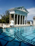 Roman Swimming Pool. A beautiful swimming pool at Hearst Castle in California stock photography