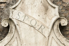 Roman symbol SPQR Royalty Free Stock Photography