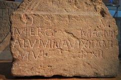 Roman Tablet antiguo foto de archivo