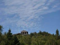 Roman tempel bij de bovenkant van Col. du Donon Stock Fotografie
