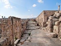 roman tempel för jerash Royaltyfri Foto