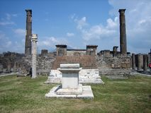 Roman Tempel in Pompei Stock Afbeelding
